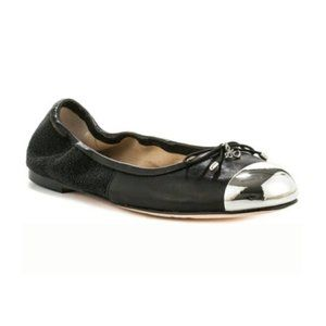 Sam Edelman Fairleigh Leather Cap Toe Ballet Flats